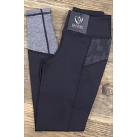 BARE No Grip Performance Tights - Stormy Rider