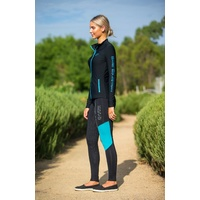 BARE Youth Performance Tights - Reflective Teal