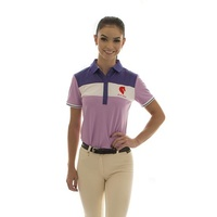 E.A. Direct Ladies Polo Shirt - Violet Tulle Triple Bar