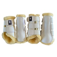 E.A Mattes Professional Dressage Boots - White/Natural