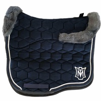 E.A Mattes Eurofit Full Fleece Saddle Pad - Navy Velvet & Dark Grey