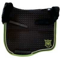 E.A Mattes Eurofit Top Fleece Saddle Pad - Black & Green