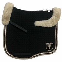 E.A Mattes Eurofit Top Fleece Saddle Pad - Black & Platin / Walnut