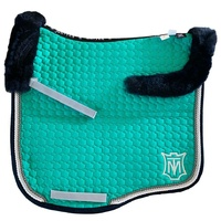 E.A Mattes Eurofit Top Fleece Saddle Pad - Emerald & Navy