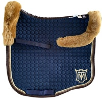 E.A Mattes Eurofit Top Fleece Saddle Pad - Navy & Brown