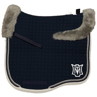 E.A Mattes Eurofit Top Fleece Saddle Pad - Navy & Silver