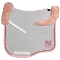 E.A Mattes Eurofit Top Fleece Saddle Pad - Silver & Rose