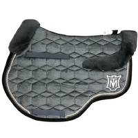 E.A Mattes Top Fleece Jump Saddle Pad - Slate Velvet & Black