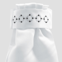 Equetech Deluxe Ready Tied Stocks - Zodiac White