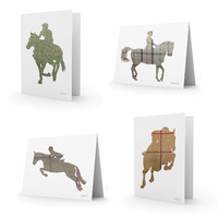 Equetech Tweed Horses Greetings Cards