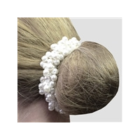 Equetech Hair Scrunchie - Beaded Pearl