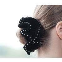 Equetech Hair Scrunchie - Crystal Double Velvet