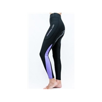 Performa Ride Colour Block Riding Tights -Black/ Lilac