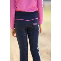 Huntington Girls Pull-On Gel Full Seat Stretch Breeches