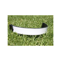White Horse Equestrian White Patent Leather Flat Band Browband