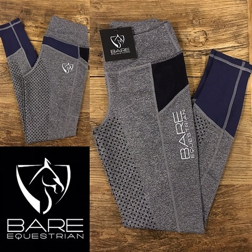 BARE Performance Tights Youth  - Blue Steel