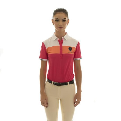 E.A. Direct Ladies Polo Shirt - Azalea Triple Bar