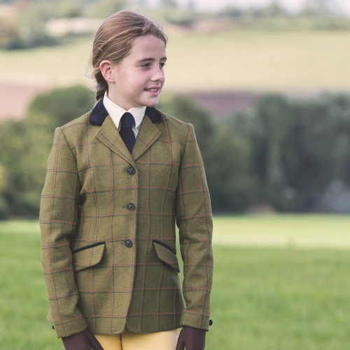 Equetech Childs Launton Deluxe Tweed Riding Jacket