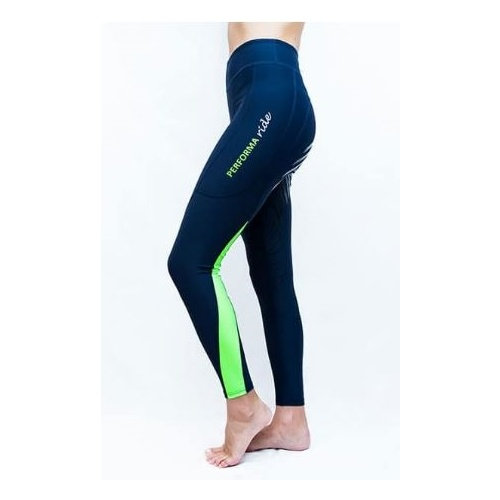 Performa Ride Ink Block Riding Tights - Lime